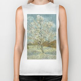 Vincent Van Gogh - The Pink Peach Tree Biker Tank