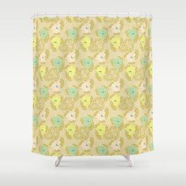 Juliette, pale Shower Curtain