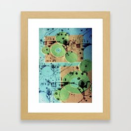 Vibrant Mechanics  Framed Art Print