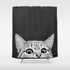 You asleep yet? Shower Curtain