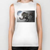 werewolf Biker Tanks featuring Werewolf by Michelena