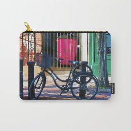 London Street Scene  - Parked Bicycle Carry-All Pouch