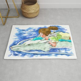 Ghibli Spirited Away Sky Illustration Rug