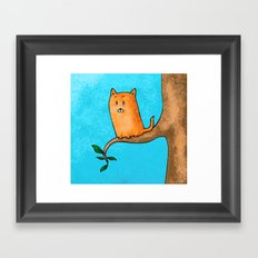 Kitty trouble Framed Art Print
