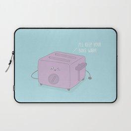 I'll Keep Your Buns Warm #kawaii #toast Laptop Sleeve