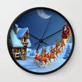 Night Christmas Wall Clock
