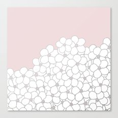 Forget Me Knot Pink Boarder Canvas Print