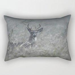 Foggy Morning Buck Rectangular Pillow