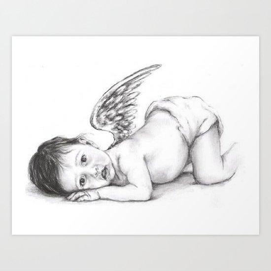 My sweet little angel Art Print