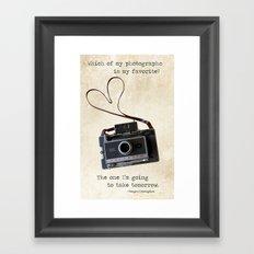 Vintage Polaroid Camera Framed Art Print
