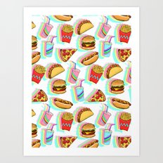 Rainbow Fast Food Art Print
