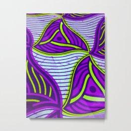 African Ankara Purple Metal Print
