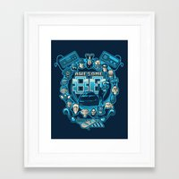 80s Framed Art Prints featuring AWESOME 80s by Letter_q