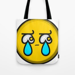 Crying Tears Smiley Face Emoji Tote Bag