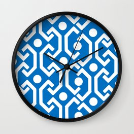 Ethnic Pattern (Blue) Wall Clock