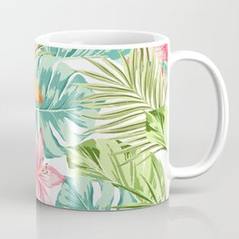 Tropical Flowers Pattern Coffee Mug
