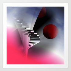 go upstairs -3- Art Print