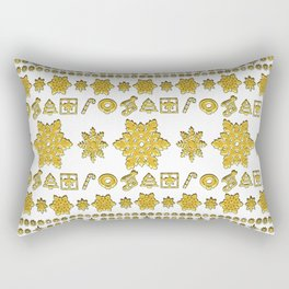 FLAKE LOVE GOLD Rectangular Pillow