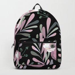 Anemones & Olives black Backpack