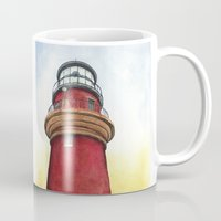 lighthouse Mugs featuring Lighthouse by Jackie Sullivan