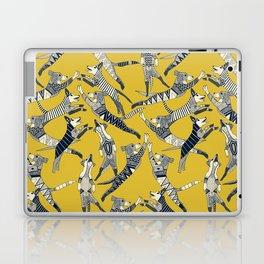 dog party indigo yellow Laptop & iPad Skin