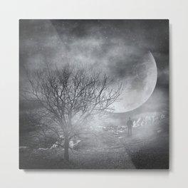 Dark Night Sky Paradox Metal Print