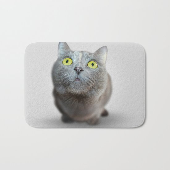 The Cat's Stare Bath Mat