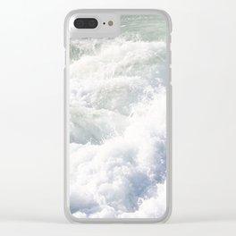 santa cruz waves Clear iPhone Case