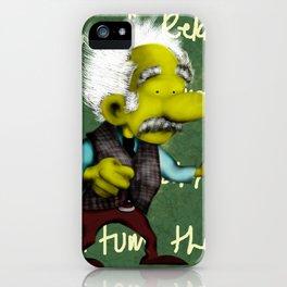 Albert Einstein in white hair iPhone Case