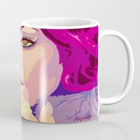 rihanna Mugs featuring Rihanna  by UnifiedGlory