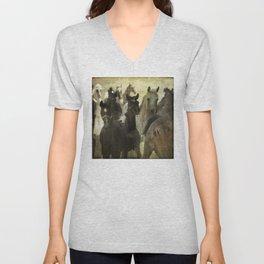 Arabian horses Unisex V-Neck