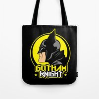 knight Tote Bags featuring Knight by Buby87