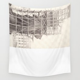 Construction of The Statue of Liberty Wall Tapestry