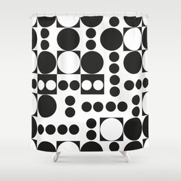 Exaggerated Dots and Circle Shower Curtain