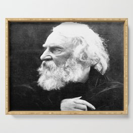 Julia Margaret Cameron - Portrait of Longfellow Serving Tray