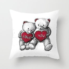 Bear: Valentine's Day Throw Pillow