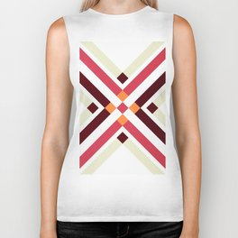 ABSTRACT RUG PATTERN Biker Tank
