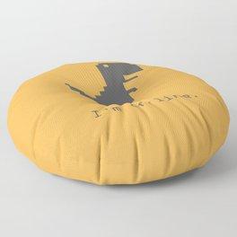 I'm offline Floor Pillow