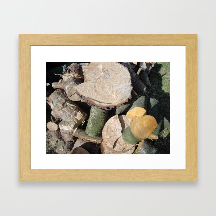 Cut Logs Framed Art Print