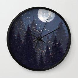 Full Moon Landscape Wall Clock