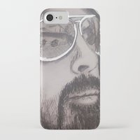 dave grohl iPhone & iPod Cases featuring Dave Grohl by Erin Michal