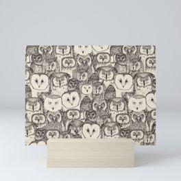 just owls natural Mini Art Print