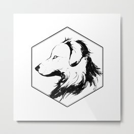Canine Republic : Golden Retriever Metal Print
