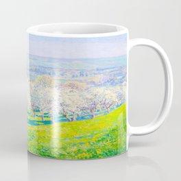 Václav Radimský (1867-1946) Blooming orchard Modern Impressionist Oil Painting Colorful Bright Coffee Mug
