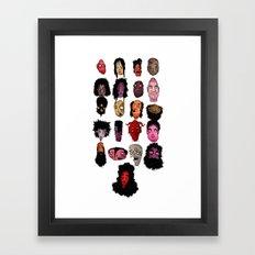 21 faces Framed Art Print