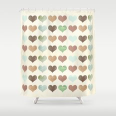 DG HEARTS - RUSTIC Shower Curtain