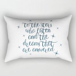 To the stars who listen Rectangular Pillow