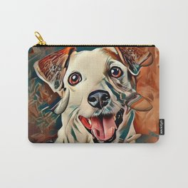Jack Russel Popart by Nico Bielow Carry-All Pouch
