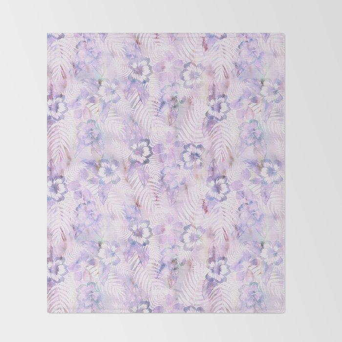 Hula Hibiscus Washout Throw Blanket