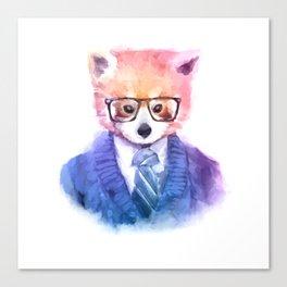 Cute fashion hipster animals pets red panda Canvas Print